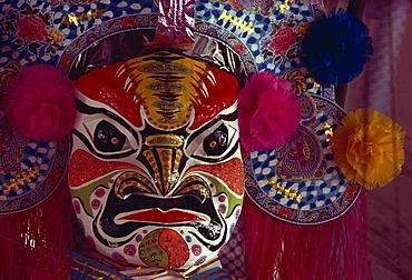 Papier mache mask, Hungry Ghost, Penang, Malaysia, Southeast Asia, Asia