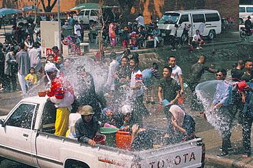 Songkran, Thai New Year, Water festival, Chiang Mai, Thailand, Southeast Asia, Asia