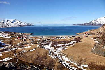 Beach at Grotfjord, Kvaloya (Whale Island), Troms, Norway, Scandinavia, Europe