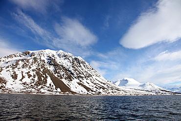 Lyngen Alps, from Ullsfjord, Troms, arctic Norway, Scandinavia, Europe