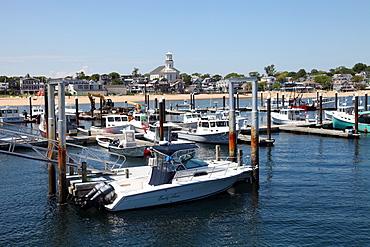 Local boat marina, Provincetown, Cape Cod, Massechusetts, United States of America, North America
