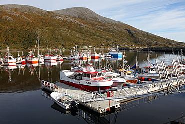 Fishing boats on a pontoon, Torsvaag, N Norway
