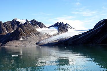 Glacier, Magdalenefjord, Svalbard. NB Lack of Drift ice.