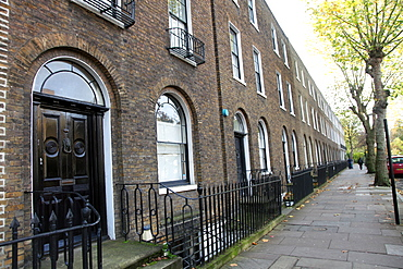 Georgian houses at Sutton Place, Hackney, London E8, England, United Kingdom, Europe