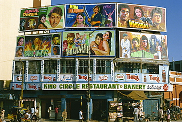 Film poster adverts, India, Asia