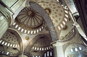 Interior of the Blue Mosque (Sultan Ahmet Mosque), UNESCO World Heritage Site, Istanbul, Turkey, Europe, Eurasia