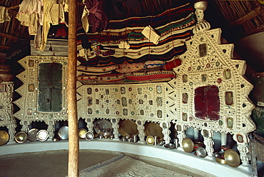 Rabari tribal interior, Kutch district, Gujarat state, India, Asia