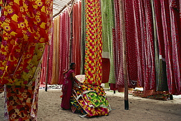 Screen print textiles, Ahmedabad, Gujarat, India, Asia