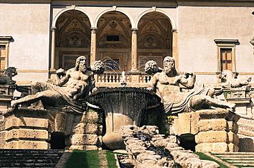 A cascade in the gardens of the Palazzo Farnese, Caprarola, Lazio, Italy