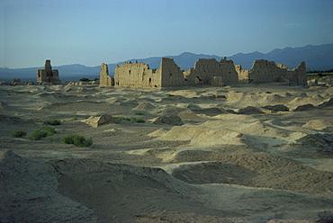 Ancient city on Silk Road, Jinohe, Turfan Depression, Xinjiang Province, China, Asia