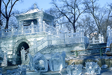 Architectural ice sculpture, Harbin, Heilangjiang Province, China, Asia