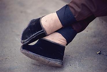 Bound feet, Lanzhou, China, Asia