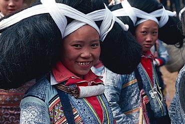 Long horned Miao at Lusheng Festival, eastern Guizhou, China, Asia