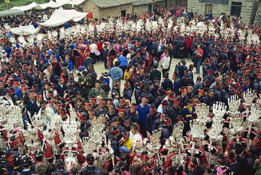 Sisters Meal Festival in spring, southeast Guizhou, Guizhou, China, Asia
