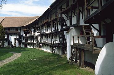 Fortified village, Prejmer (Tartlau), near Brasov, Romania, Europe