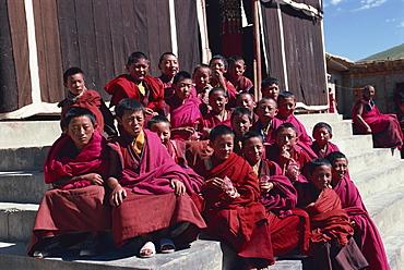 Derlong Red Sect monastery, Jigzhi, Qinghai, China, Asia