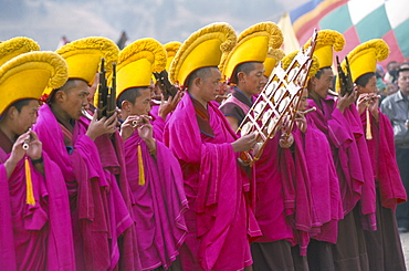 New Year (Losar) celebrations, Labrang Monastery, Gansu province, China, Asia