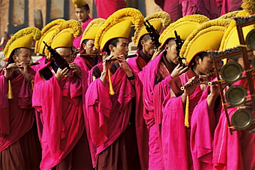Losar, New Year celebrations, Labrang Monastery, Gansu Province, China, Asia