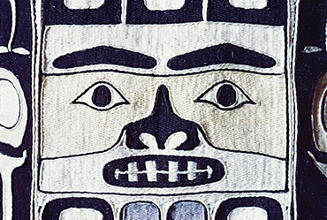 Detail of Chilkat shirt, Tlingit from North West Pacific, exhibited in Portland Museum, Portland, Oregon, United States of America, North America