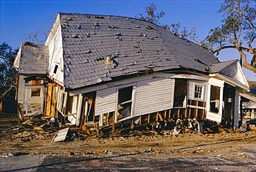 Hurricane damage, Louisiana, USA
