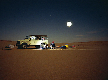 Sahara Desert at night, Algeria, North Africa, Africa