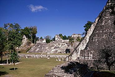 The Great Plaza, Tikal, UNESCO World Heritage Site, Peten, Guatemala, Central America