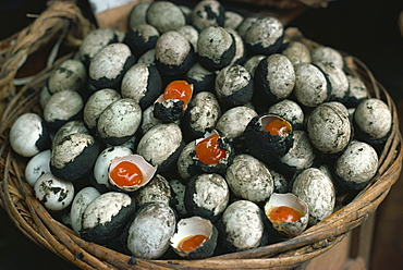 Hundred year eggs, Singapore, Southeast Asia, Asia
