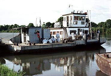 Steamer on the White Nile, Juba, Sudan, Africa