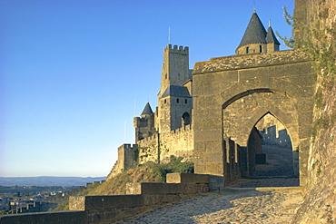 Carcassonne, UNESCO World Heritage Site, Aude, Languedoc-Roussillon, France, Europe
