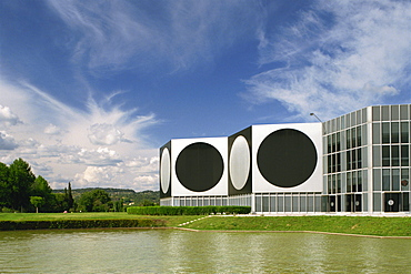 Modern buildings of the Vasarely Foundation at Aix en Provence, Provence, France, Europe