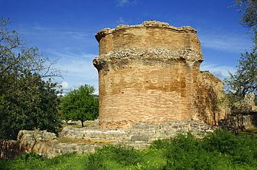 The church at the Roman town of Milreu, Estoi, Algarve, Portugal, Europe