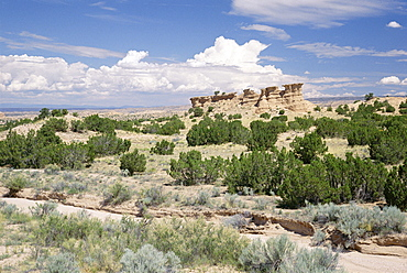 Rock formation on the Nambe Chimayo road, Santa Fe, New Mexico, United States of America (U.S.A.), North America