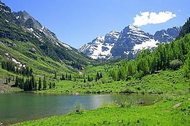 Maroon Lake near Aspen, Colorado, United States of America, North America