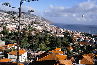 View over city from Fortaleza do Pico (fort), Funchal, Madeira, Portugal, Atlantic, Europe