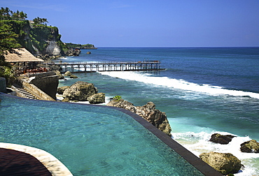Cliff Pool at Ayana Resort and Spa, formerly Ritz Carlton Bali Resort and Spa, Bali, Indonesia, Southeast Asia, Asia