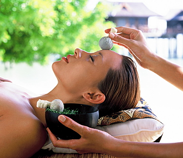 Facial compresses, spa treatment, Malaysia, Southeast Asia, Asia