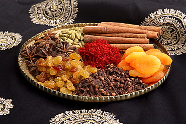 Ingredients for Saffron Rice in India, Asia