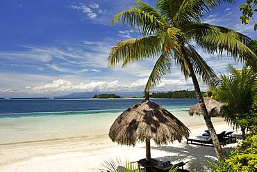 Beach, Pearl Farm Resort on Samar Island in Davao, Mindanao, Philippines, Southeast Asia, Asia