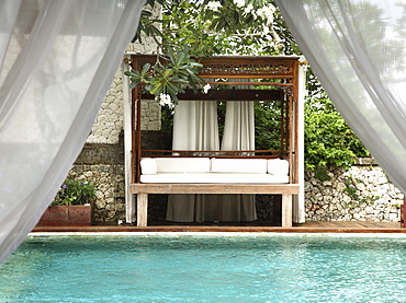 Pool at the villa at Ayana Resort and Spa, formerly the Ritz Carlton Bali Resort and Spa, in Bali, Indonesia, Southeast Asia, Asia