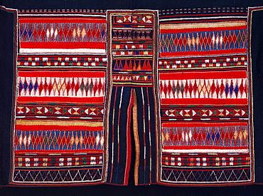 Textile of Akha Mountain Tribe, Northern Thailand, Southeast Asia, Asia