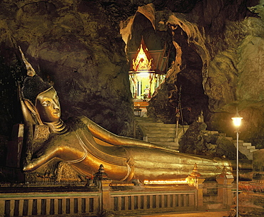 Wat Swannakuha, cave temple in Phang Nga town area in Thailand, Southeast Asia, Asia
