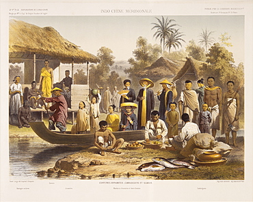 People of Siam, Cambodia and Annam, from Exploration de L'Indo-Chine by Delaporte, Southeast Asia, Asia