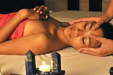 Lazuli sensory therapy with head massage, Lazuli Spa at Marco Polo Hotel in Davao, Mindanao, Philippines, Southeast Asia, Asia