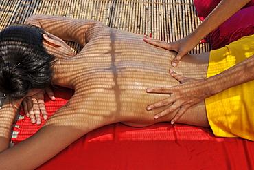 Oil massage at spa, Southeast Asia, Asia