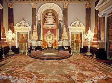 The Throne of the King of Thailand, Dusit Mahaprasat Throne Hall, Royal Palace, Bangkok, Thailand, Southeast Asia, Asia