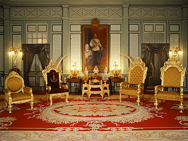 The Throne Hall at Vimarn Mek Palace, Bangkok, Thailand, Southeast Asia, Asia
