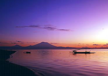 Sunrise at Sanur Beach, Bali, Indonesia, Southeast Asia, Asia