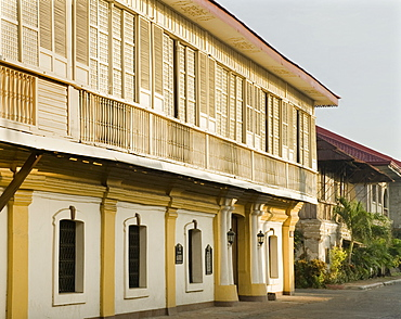 Siquya Heritage mansion, a classic Filipino Bahai na bato, home of former president Quirino, now a Museum, Vigan, UNESCO World Heritage Site, Ilocos Sur, Philippines, Southeast Asia, Asia