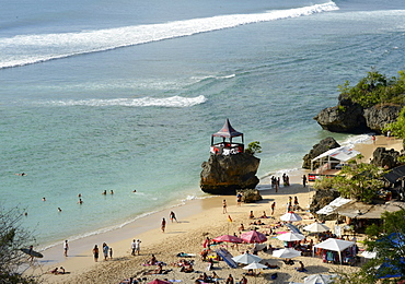 Padang Padang Beach and surfing hub, Bukit peninsula, Bali, Indonesia, Southeast Asia, Asia