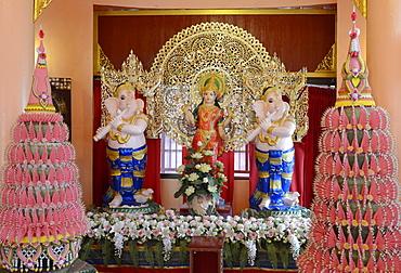 Lakshmi shrine, Wat Doi Wao, Mae Sai, Thailand, Southeast Asia, Asia